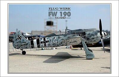 Flug Werk - FW 190 - Aircraft Poster - $9.00
