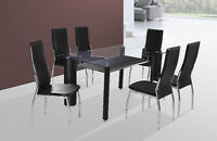 BRAND NEW GLASS TOP DINETTE SET.