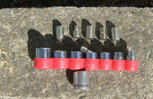 Sockets from  5/16  to  3/4 ,   plus Craftsman Ratchet