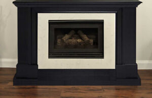 Fireplace Zero Clearance gas insert with Marble surround