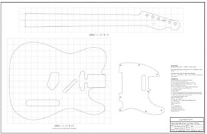 Fab Drawings for building Telecaster Solid Body Guitar Kingston Kingston Area image 3