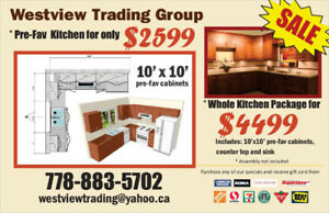 Kitchen Cabinets 10*10 Pre - fav For Only $2599