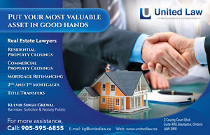 REAL ESTATE LAWYER ***LOWEST FLAT FEES*** CALL: 905-595-6855
