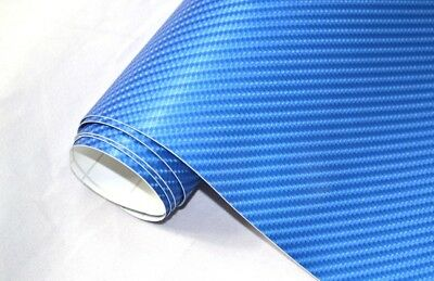 6,5€/m² 4D Carbon Folie - BLAU METALLIC 200 x 152 cm flexibel  Auto Klebe Folie