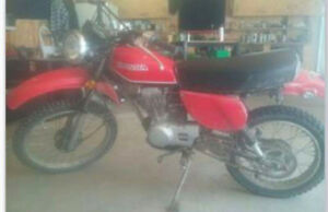 Vintage Honda xl100 dual purpose dirt bike