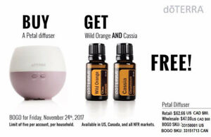 BOGO: Buy one Petal Diffuser and get a FREE Wild Orange & Cassia
