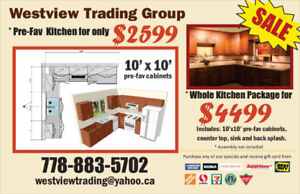Kitchen Cabinets 10*10 Pre - fav For Only 2599 $