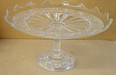 EAPG CRYSTAL HAWAIIAN LEI CAKE STAND BRYCE HIGBEE & CO AFTER - Hawaiian Lei Company