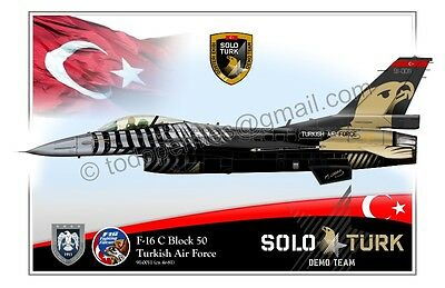 Poster Profile Turkish Air Force F-16 SOLO TURK