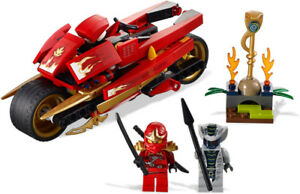 Complete Lego Sets - Kai's Blade Cycle & Jay's Storm Fighter