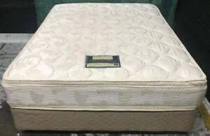Excellent double-sided Pillow Top queen mattress with base Kingsbury Darebin Area Preview