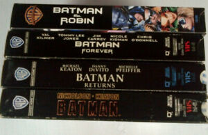 1st 4 Batman VHS Movies - all 4 together for $5.00
