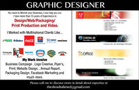 Graphic Designer / 3D Digital Modeling / Print Production / Webs