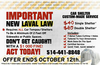 New Laval Law On Car Shelters Tempos Fix Custom Made