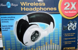 Finer Things Wireless Headphones Model# FTWH08 New/ Not Used
