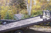 Double skidoo utility trailer