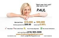 NO CREDIT CHECK - PRIVATE 2ND MORTGAGES