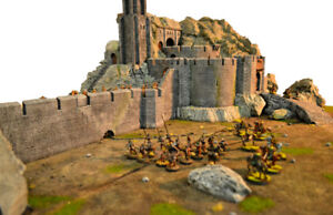 Helms Deep castle for wargaming and warhammer and hobbit fans