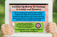 PARTICIPANTS WANTED: Introducing Mobile Tech to Infants/Toddlers