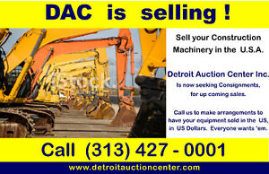 Detroit Auction Center Inc.  is  Seeking machinery consignments.