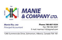 Manie & Company LTD Accounting Services