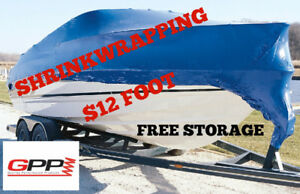 Boat Winterizing and Shrink Wrap $12 foot Free storage