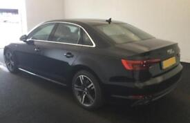 2016 BLACK AUDI A4 2.0 TDI 150 S LINE DIESEL AUTO SALOON CAR FINANCE FR £67 PW