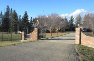 house on a acreage for rent near edmonton airport!