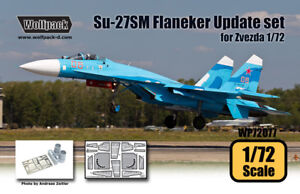 Wolfpack 1:72 Su-27SM Flanker Mod.1 Update set for Zvezda Kit Resin PE #WP72077