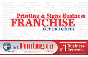 Franchise Opportunity - Printing and Sign Business