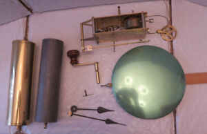 Franz Hermle Clock movement and all parts. Weight driven, 114 cm