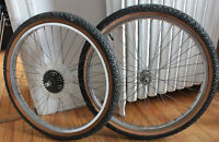 "ROUES 24"" / 24"" Wheels (rims+tires+inner tubes) ARAYA Japan"