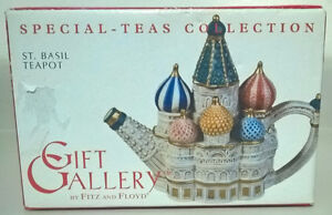 Ornate Fitz & Floyd St. Basil's Cathedral Teapot, Limited