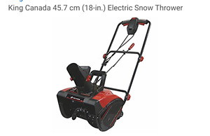King Canada electric snow thrower