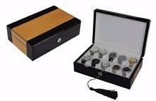 Luxury wooden watch box storage case for 10 watches Auburn Auburn Area Preview