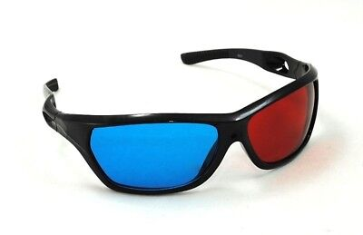 3D Brille Blau Rot Cyan Anaglyph Kino Glasses Brillen Filme TV PC Neu #769