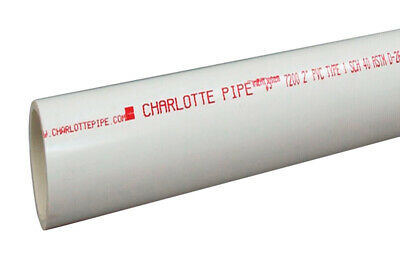 Charlotte Pipe  Schedule 40  PVC  Pipe  2 in. Dia. 5 ft. Pla