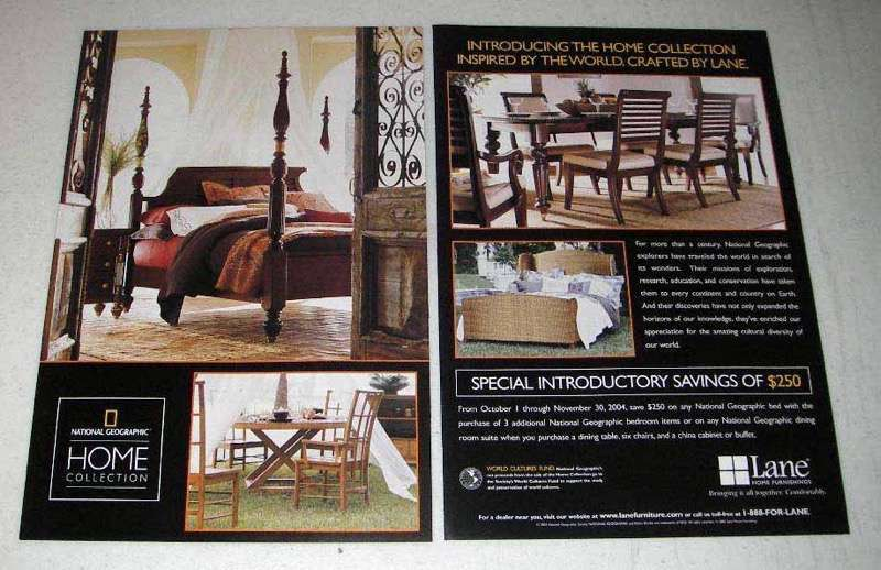 2004 Lane National Geographic Home Furniture Ad
