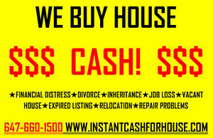 CASH BUYER LOOKING FOR HOUSE -- QUICK CLOSING – OK Kitchener / Waterloo Kitchener Area image 1