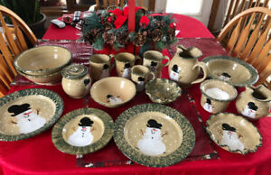 "Vintage Christmas Pottery Collection ""Traditional Snowman"""