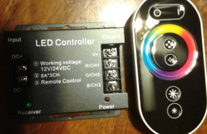 RGB LED light controller and remote