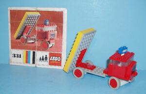 VINTAGE, LEGO SYSTEM no 331, LE CAMION de VIDANGE de 1967