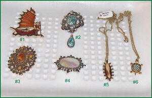 Lot of 3  Vintage Sarah Coventry Jewellery Items