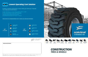 NEW - CAMSO EQUIPMENT TIRES - ALL MAKES