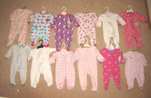 Sleepers and Clothes - 3, 3-6, 6, 6-12, 12 mos / Shoes sz 2, 3