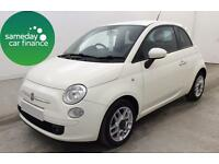 £114.89 PER MONTH WHITE 2010 FIAT 500 1.2 SPORT 3 DOOR MANUAL PETROL
