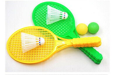 1pair Child Badminton Tennis Racket Baby Sports Bed Toy Educational Pop JH