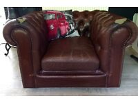 Brown Leather CHESTERFIELD Club ARMCHAIR