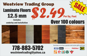 High Quality 12.5mm Laminate Flooring Include Installation 2.49