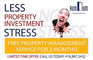 FREE PROPERTY MANAGEMENT SERVICE FOR 2 MONTHS!!